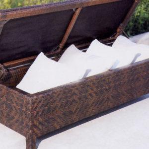 pinti ratano Lauko baldai, terasos lauko baldai, deze pagalvelems, skrynia