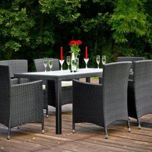 Lauko baldai, pinti ratano baldai, terasos lauko baldai, foteliai, pietu stalas