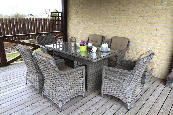 Pinti lauko baldai Klasika, terasos baldai, pietu stalas
