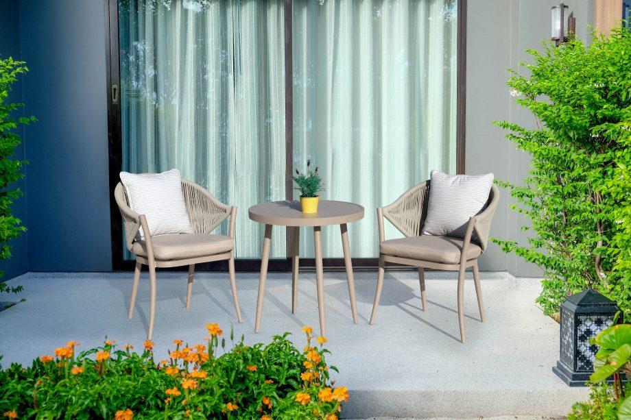 Balkono baldai, aliuminio baldai, lauko baldai