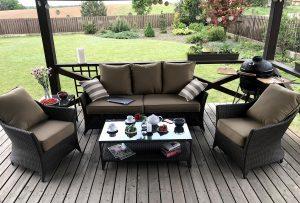 pinti lauko baldai, romantika, sofa, foteliai