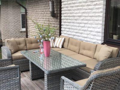 pietų lauko baldai, prabangūs lauko baldai, pietų stalas