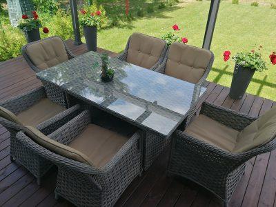 Lauko baldai Klasika, pinti baldai, lauko baldai