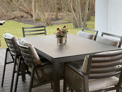 lauko baldai, stilingi baldai, pietu komplektas